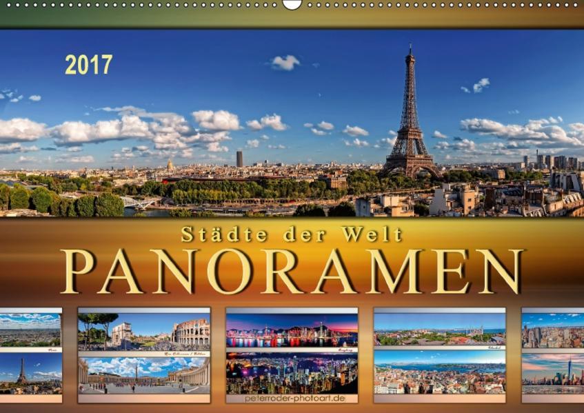 Städte der Welt, Panoramen (Wandkalender 2017 DIN A2 quer) - Coverbild