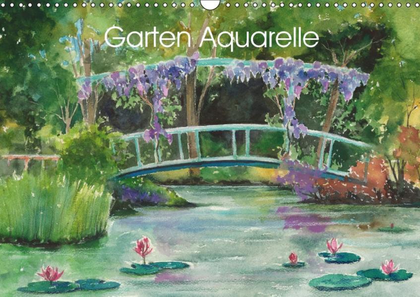 Garten Aquarelle (Wandkalender 2017 DIN A3 quer) - Coverbild