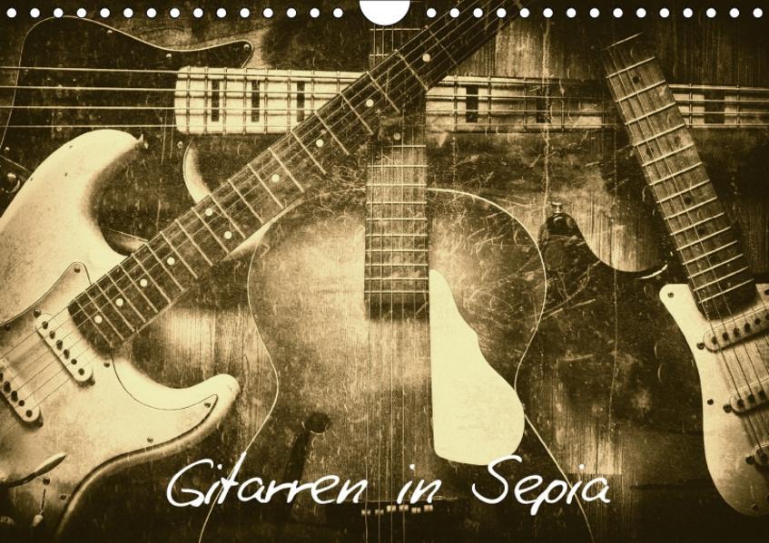 Gitarren in Sepia (Wandkalender 2017 DIN A4 quer) - Coverbild