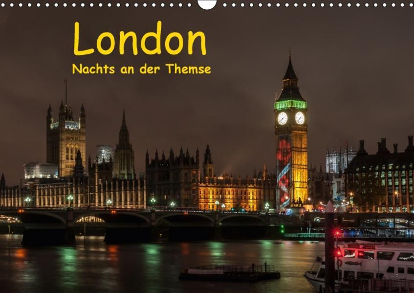 London - Nachts an der Themse (Wandkalender 2017 DIN A3 quer) - Coverbild