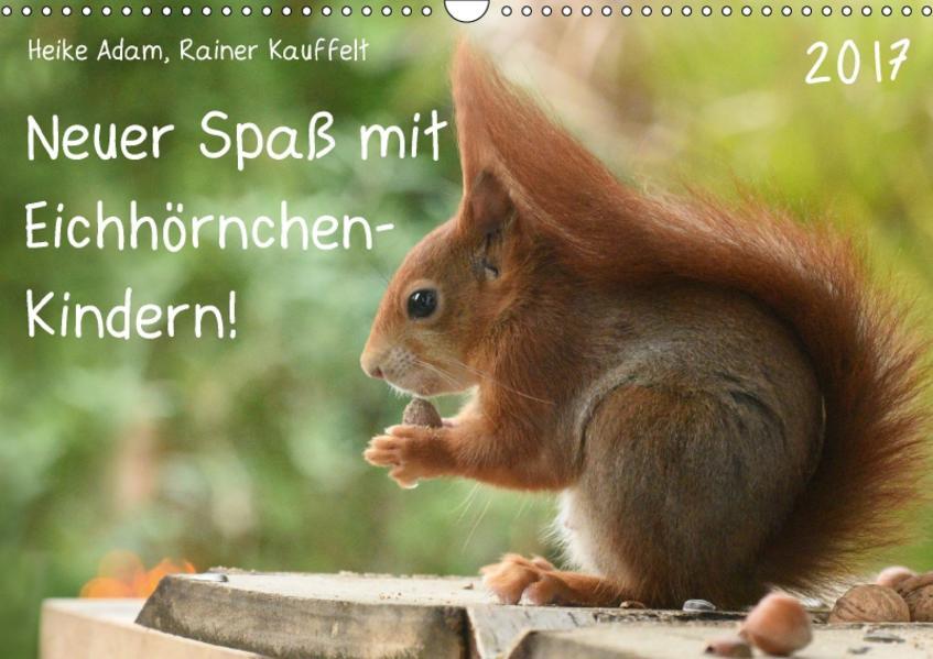 Neuer Spaß mit Eichhörnchen-Kindern (Wandkalender 2017 DIN A3 quer) - Coverbild