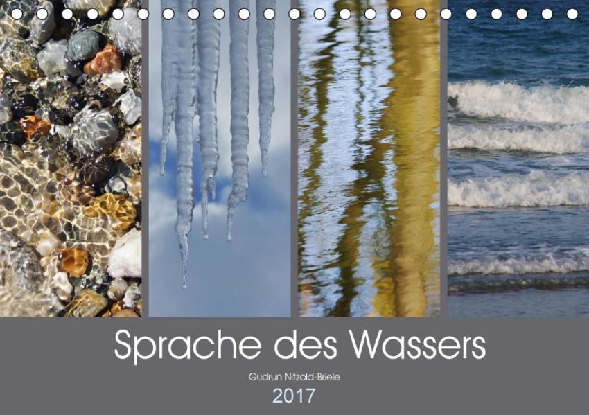 Sprache des Wassers (Tischkalender 2017 DIN A5 quer) - Coverbild