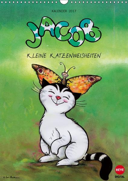 Kater Jacob kleine Katzenweisheiten (Wandkalender 2017 DIN A3 hoch) - Coverbild