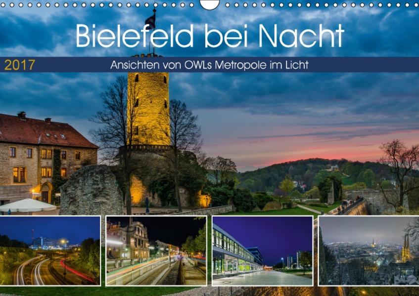 Bielefeld bei Nacht (Wandkalender 2017 DIN A3 quer) - Coverbild