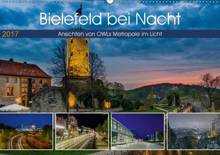 Bielefeld bei Nacht (Wandkalender 2017 DIN A2 quer) - Coverbild
