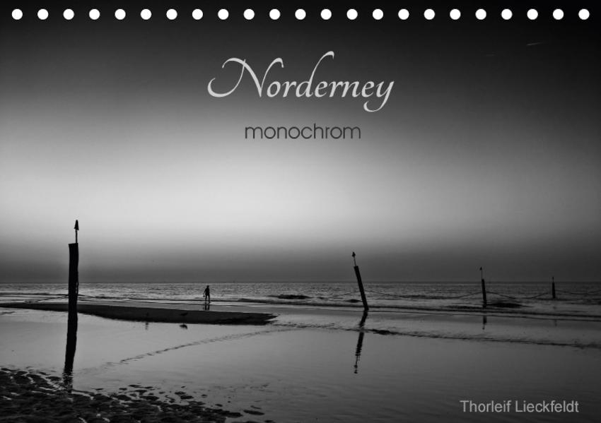 Norderney monochrom (Tischkalender 2017 DIN A5 quer) - Coverbild