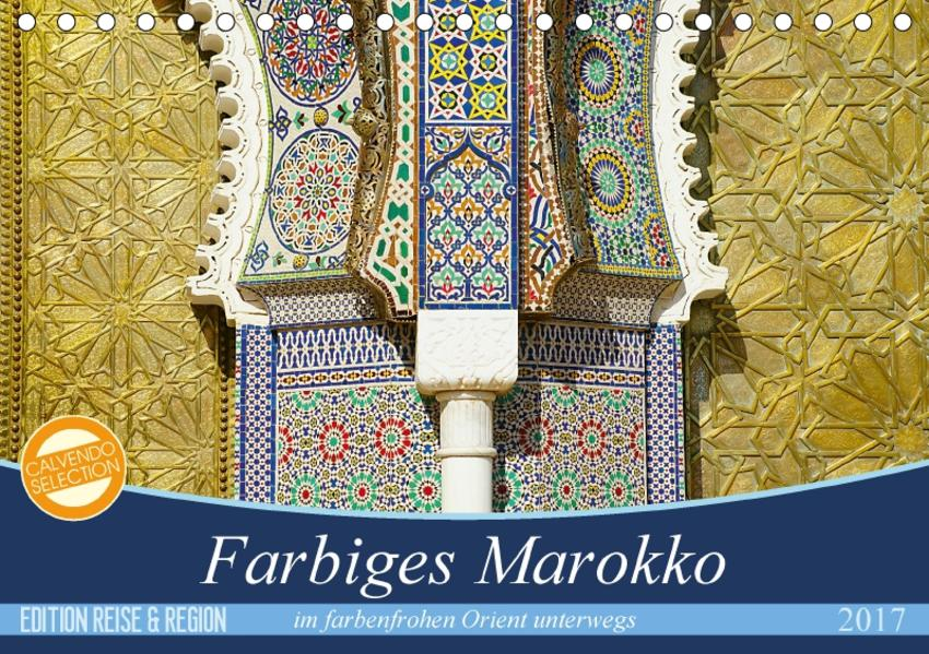 Farbiges Marokko (Tischkalender 2017 DIN A5 quer) - Coverbild
