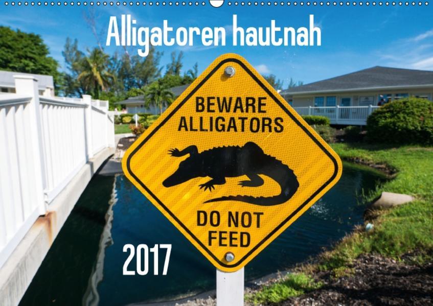 Alligatoren hautnah (Wandkalender 2017 DIN A2 quer) - Coverbild