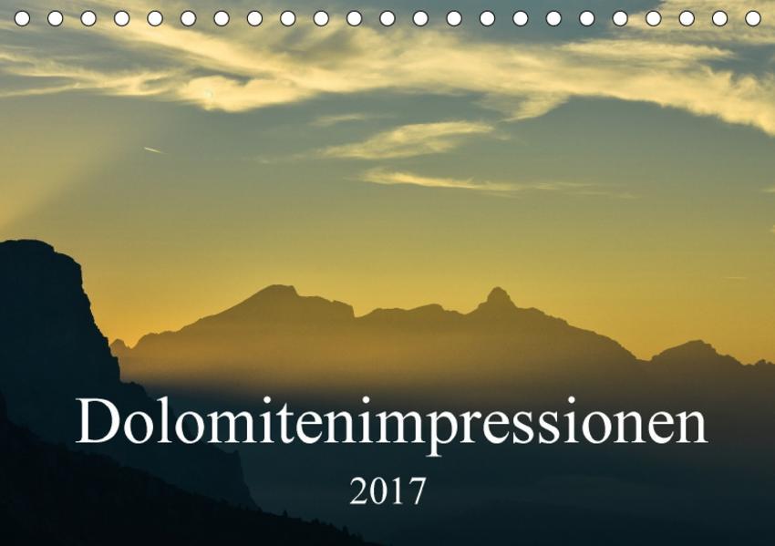 Dolomitenimpressionen (Tischkalender 2017 DIN A5 quer) - Coverbild