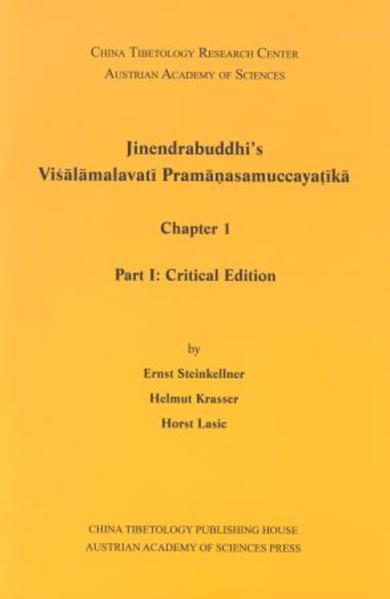 Jinendrabuddhi´s Visalamalavati Pramanasamuccayatika - Coverbild