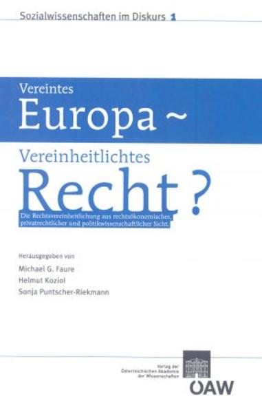 Vereintes Europa - Vereinheitlichtes Recht? - Coverbild
