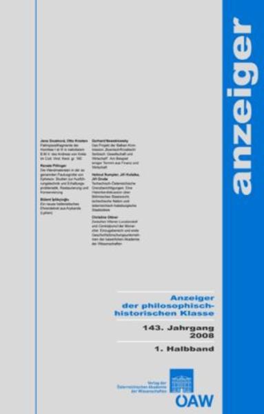 Anzeiger der philosphisch-historischen Klasse 142. Jahrgang 2007 - Coverbild