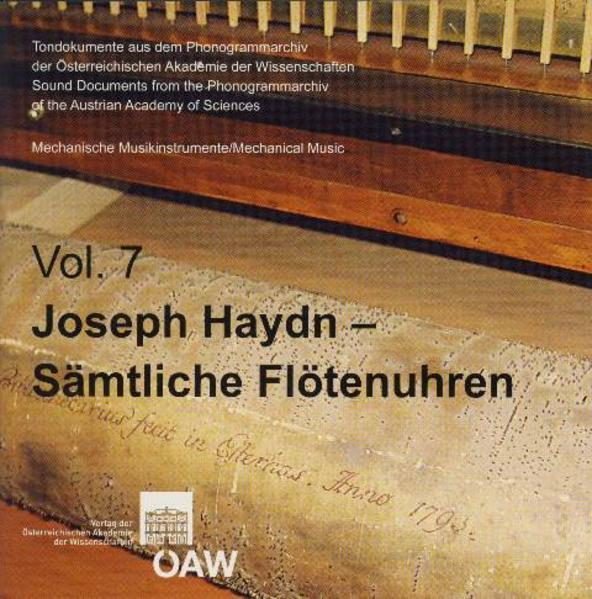 Joseph Haydn - Sämtliche Flötenuhren - Coverbild