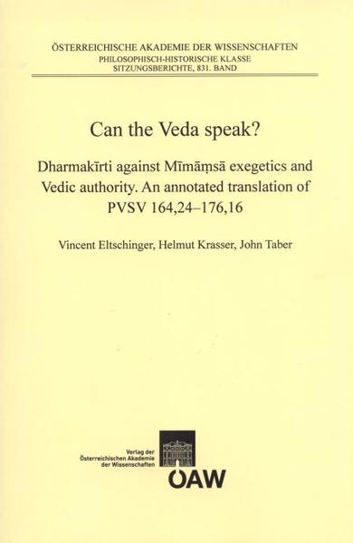 Can the Veda speak? - Coverbild
