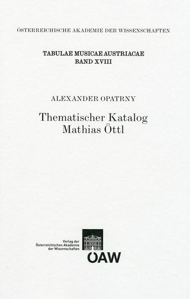 Thematischer Katalog Mathias Öttl - Coverbild