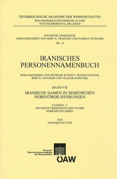 Iranisches Personennamenbuch  Band VII/Faszikel 2:Iranische Namen in Semitischen Nebenüberlieferungen - Coverbild
