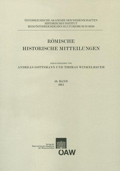 Römische Historische Mitteilungen / Römische Historische Mitteilungen  56. Band 2014 - Coverbild