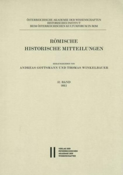 Römische Historische Mitteilungen / Römische Historische Mitteilungen  57 Band 2015 - Coverbild