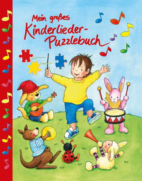Mein großes Kinderlieder Puzzlebuch - Coverbild