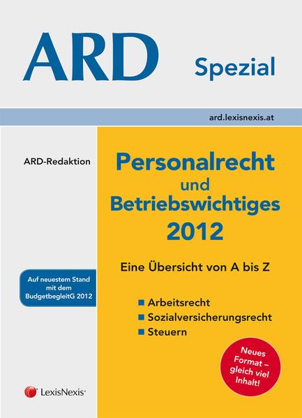 Personalrecht und Betriebswichtiges 2012 - Coverbild