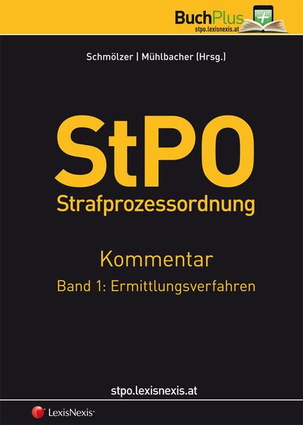 StPO Strafprozessordnung - Kommentar / StPO Strafprozessordnung - Kommentar Band 1: Ermittlungsverfahren - Coverbild