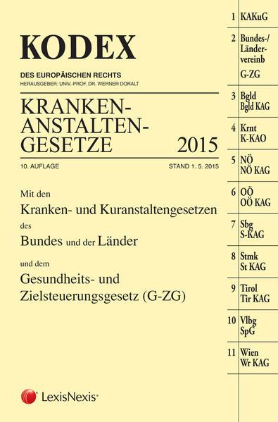 KODEX Krankenanstaltengesetze 2015 - Coverbild