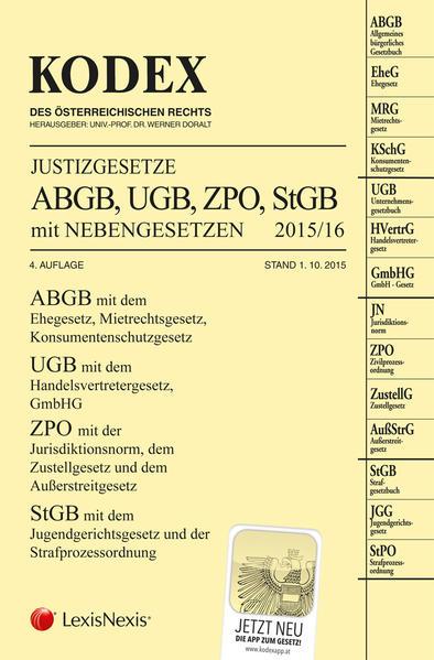 KODEX Justizgesetze 2015 - Coverbild