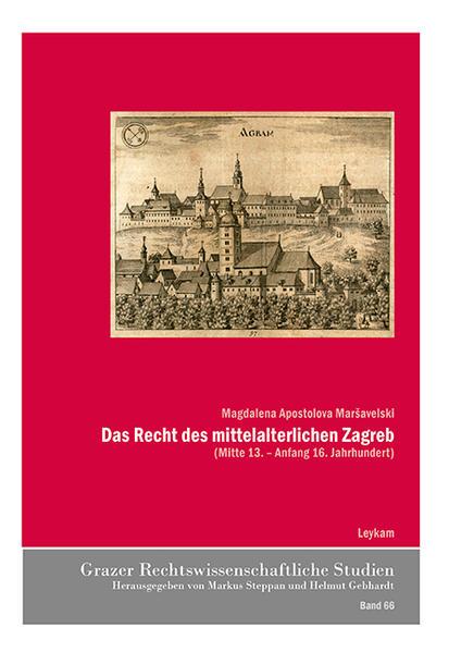 Das Recht des mittelalterlichen Zagreb - Coverbild