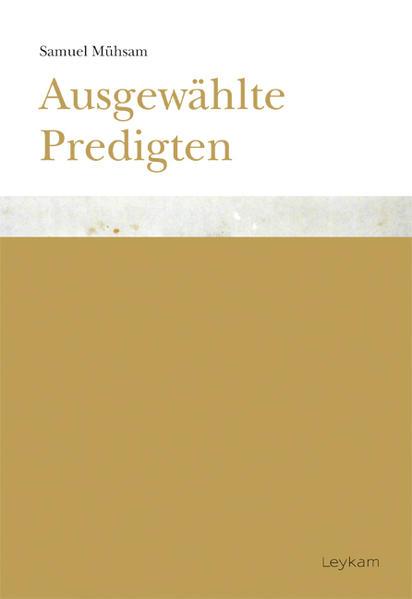 Samuel Mühsam. Ausgewählte Predigten - Coverbild
