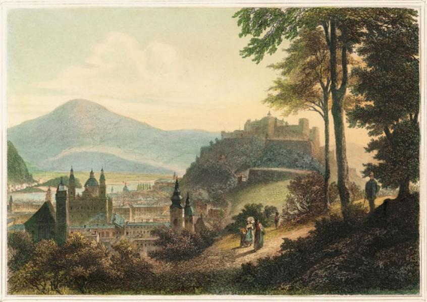 Malerische Ansichten der Stadt Salzburg und ihrem Kreise des Salzkammergutes und Berchtesgadens - Coverbild
