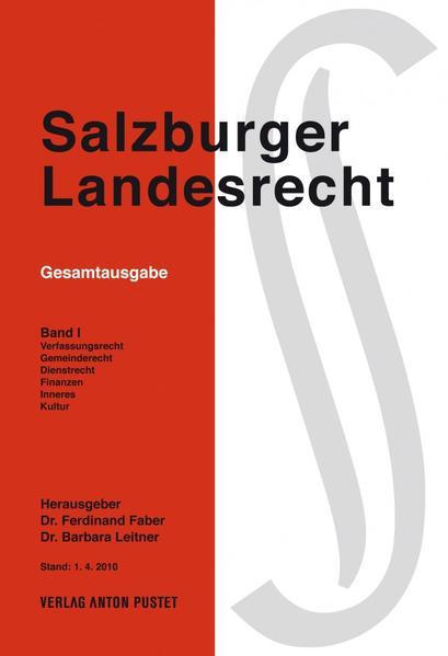 Salzburger Landesrecht 2010 - Coverbild