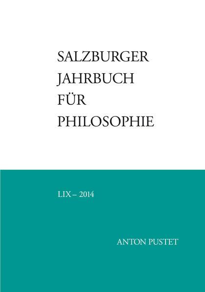 Salzburger Jahrbuch für Philosophie - Coverbild