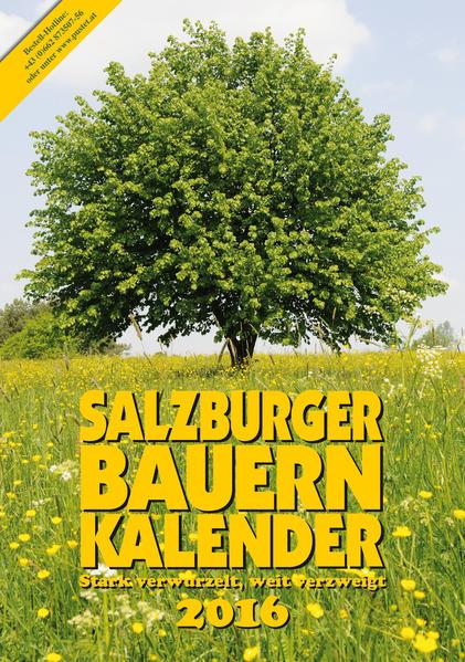 Salzburger Bauernkalender 2016 - Coverbild