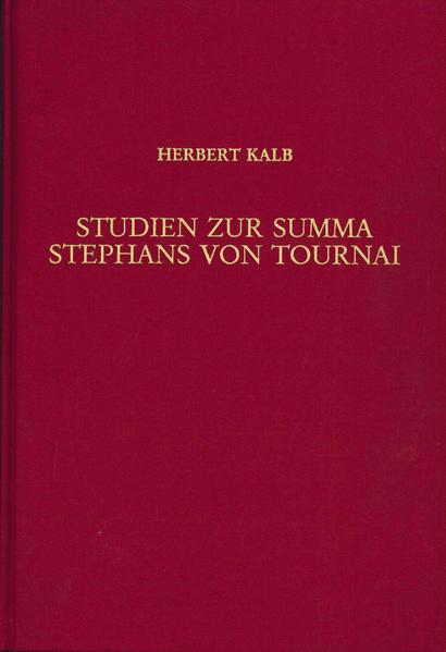Studien zur Summa Stephans von Tournai - Coverbild
