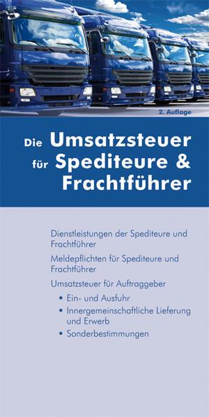Die Umsatzsteuer für Spediteure & Frachtführer - Coverbild