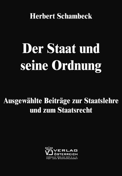 Der Staat und seine Ordnung - Coverbild