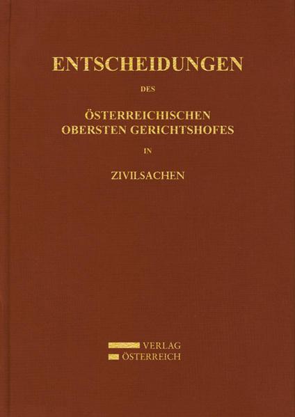 Entscheidungen des Österreichischen Gerichtshofes in Zivilsachen - Coverbild