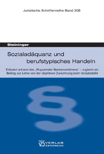 Sozialadäquanz und berufstypisches Handeln - Coverbild