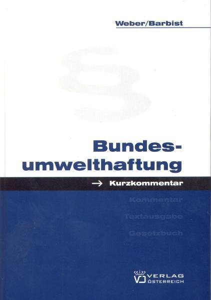 Bundesumwelthaftung - Coverbild