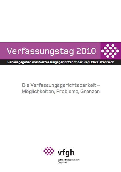 Verfassungstag 2010 - Coverbild