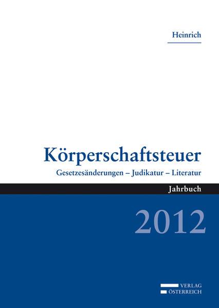 Körperschaftsteuer 2012 - Coverbild