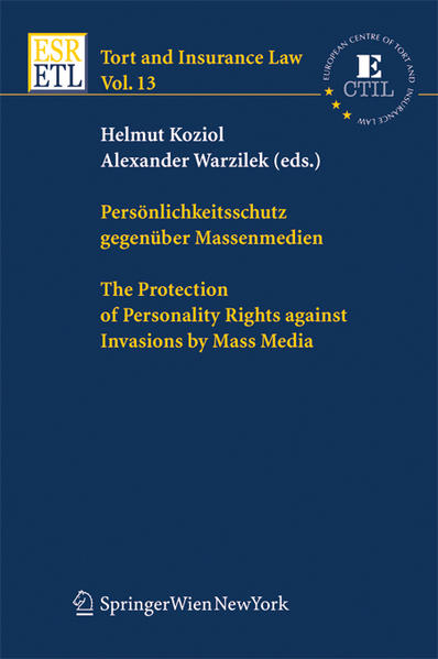 Persönlichkeitsschutz gegenüber Massenmedien / The Protection of Personality Rights against Invasions by Mass Media - Coverbild