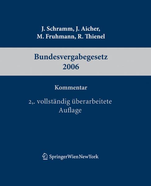 Kommentar zum Bundesvergabegesetz 2006 - Coverbild