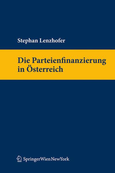 Die Parteienfinanzierung in Österreich - Coverbild
