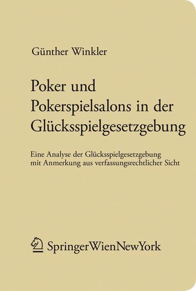 Poker und Pokerspielsalons in der Glücksspielgesetzgebung - Coverbild