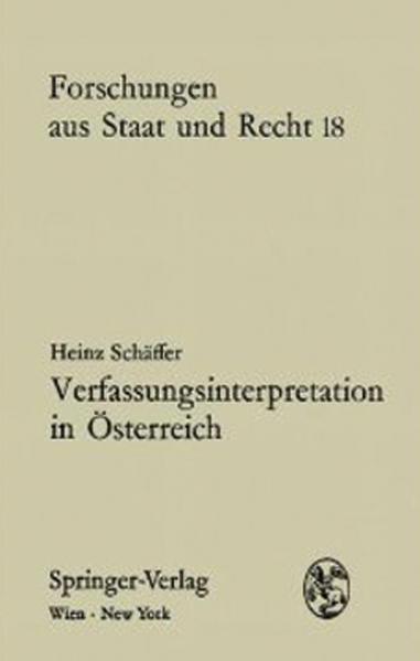 Verfassungsinterpretation in Österreich - Coverbild