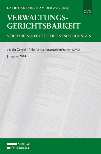 Verwaltungsgerichtsbarkeit - Verfahrensrechtliche Entscheidungen - Coverbild