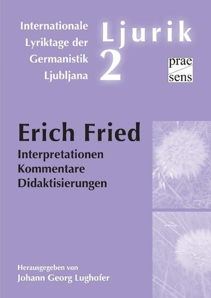 Erich Fried - Coverbild