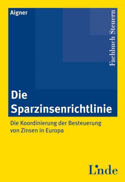 Die Sparzinsenrichtlinie - Coverbild