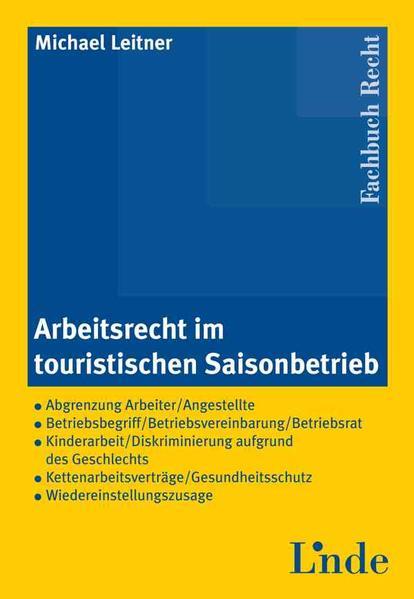 Arbeitsrecht im touristischen Saisonbetrieb - Coverbild